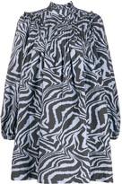 Ganni Swirl Tiger-Print Dress