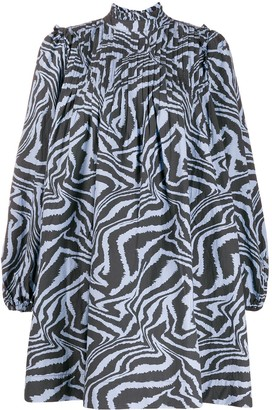 Ganni Swirl Tiger-Print Dress