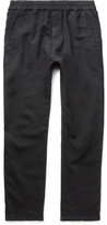Folk Linen And Cotton-Blend Drawstring Trousers