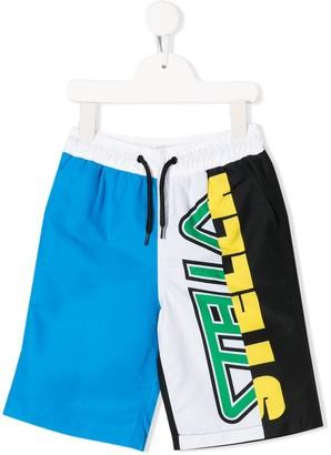 Stella McCartney Stella logo print swim shorts