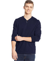 Alfani Men's Long-Sleeve Split Crewneck T-Shirt