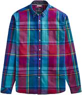 Joules Lyndhurst Multi Check Shirt, Red/blue