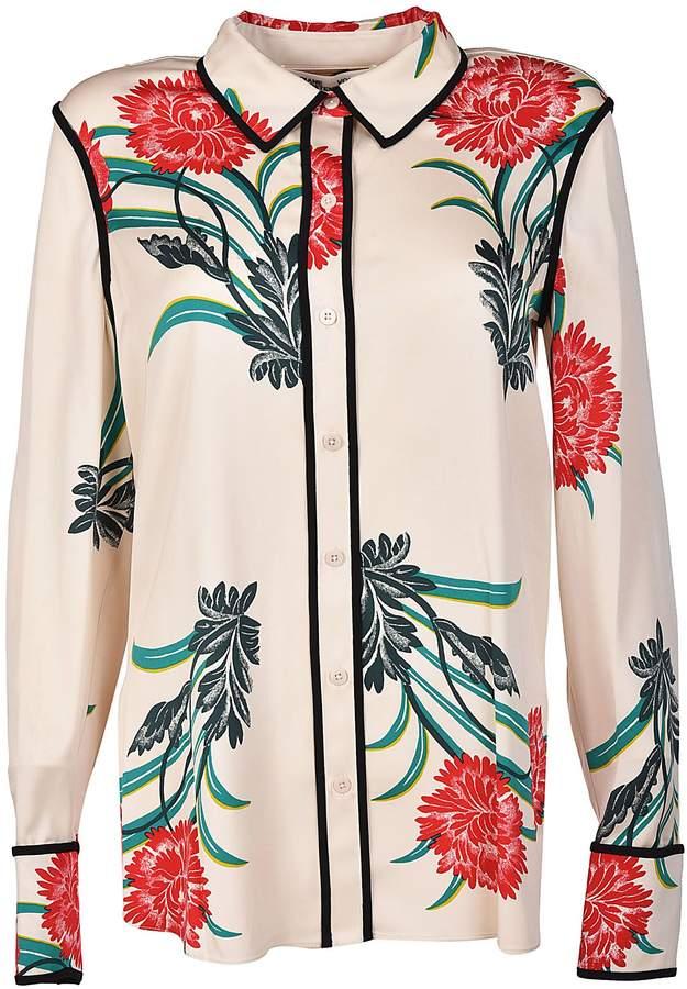 Diane von Furstenberg Floral Print Shirt