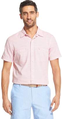 Izod Men's Saltwater Dockside Chambray Classic-Fit Button-Down Shirt