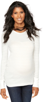 A Pea in the Pod Long Sleeve Striped Layering Maternity Tee