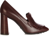 Tod's Gomma fringed leather pumps