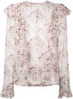 Giambattista Valli floral print ruffle blouse - women - Silk - 40
