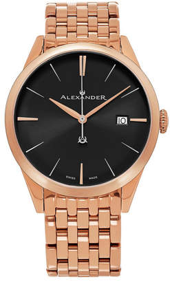 Stuhrling Original Alexander Watch A911B-06, Stainless Steel Rose Gold Tone Case on Stainless Steel Rose Gold Tone Bracelet