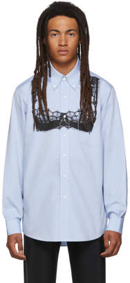 Random Identities Blue BB Bra Print Shirt