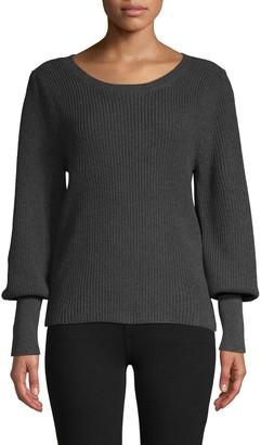 525 America Bishop-Sleeve Cotton Sweater