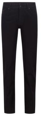 HUGO BOSS Regular-fit jeans in black-black stretch denim