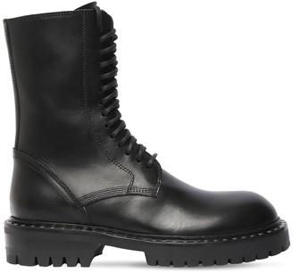 Ann Demeulemeester 40mm Leather Combat Boots