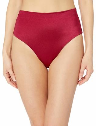 T Tahari Tahari Women's Ruched Transformable High Waist Bikini Bottom Swimsuit