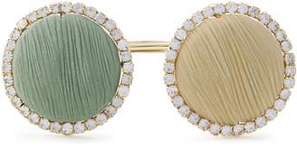 Rosantica Origine Gold-tone, Crystal And Stone Cuff