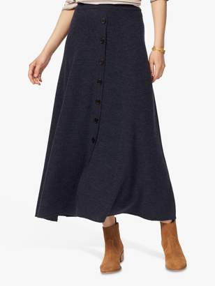 Brora Merino Wool Button Detail Maxi Skirt