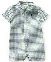 Ralph Lauren Baby Boys 3-12 Months Tattersall Plaid Poplin Shortall