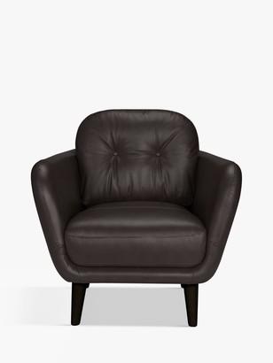 House by John Lewis Arlo Leather Armchair, Dark Leg