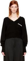Chloé Black Pocket V-neck Sweater