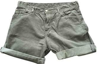Acquaverde Khaki Cotton Shorts for Women