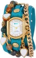 La Mer Collection's Women's LMMULTI1009 Paris Heart Wrap Watch