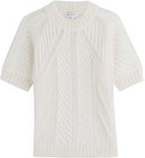 Vionnet Mohair-Wool Short Sleeve Pullover