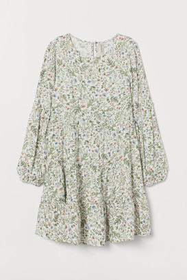 H&M Flared Dress - White