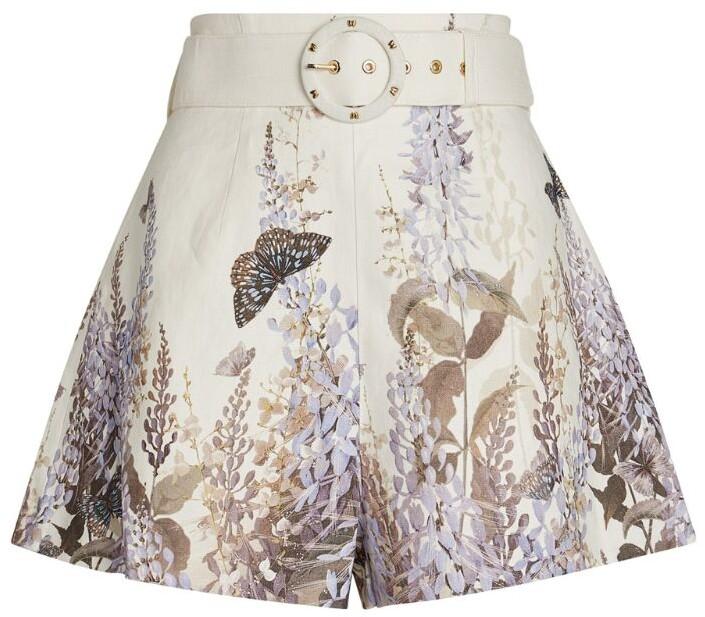 Zimmermann Luminous Floral Print Shorts