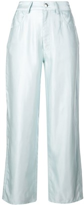 Fleur Du Mal Straight-Leg Trousers