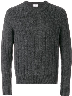 Ami Paris Flat Ribbed Crewneck Sweater