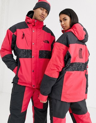 The North Face 94 Rage Waterproof Synth Insulated Jacket in rose red/gray rage print