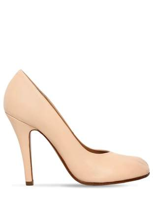 Maison Margiela Tabi Beige Leather Heels