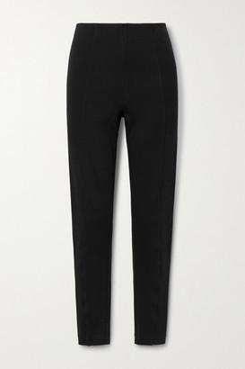 Ninety Percent + Net Sustain Paneled Organic Cotton-blend Jersey Slim-leg Pants - Black