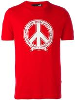 Love Moschino peace symbol print T-shirt