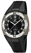 Calypso Men's Quartz Watch with Black Dial Analogue Display and Black Plastic Strap K5214/2