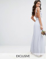 TFNC WEDDING Maxi Dress with Embellished V Back