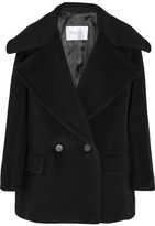 Max Mara Double-breasted Wool And Cashmere-blend Coat - Black