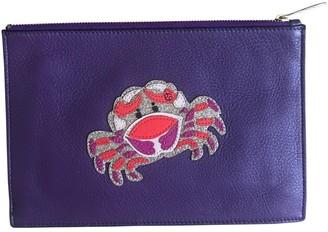 Diane von Furstenberg Purple Leather Clutch bags