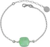 Antica Murrina Veneziana Florinda Green Murano Glass Sterling Silver Bracelet