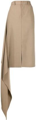 Ami Side Panel Straight Skirt