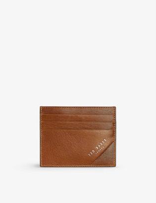 Ted Baker Rifle leather cardholder