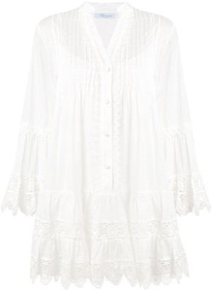 Blumarine long-sleeve flared dress