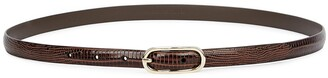 Andersons Brown Lizard-effect Leather Belt