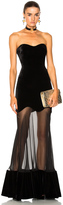 Alexander McQueen Bustier Velvet Gown