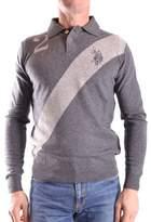 U.S. Polo Assn. Men's Grey Viscose Polo Shirt.
