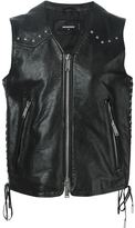 DSQUARED2 leather studded gilet