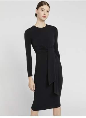 Alice + Olivia Delora Tie Waist Midi Dress