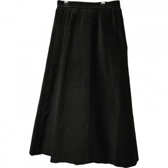 Nina Ricci Black Velvet Skirt for Women Vintage