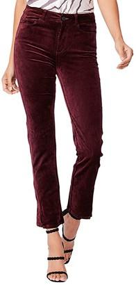 Paige Cindy w/ Twisted Seam in Deep Ruby Velvet (Deep Ruby Velvet) Women's Casual Pants