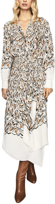 Reiss Mia Abstract Feather Dress