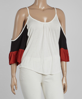 Canari White & Black Cutout Top - Plus